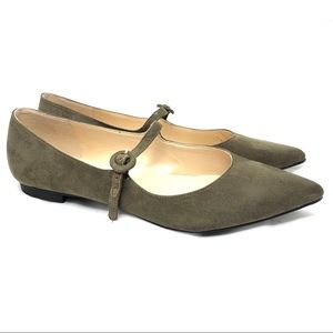 Marc Fisher Stormy2 Mary Jane flat olive green 8.5